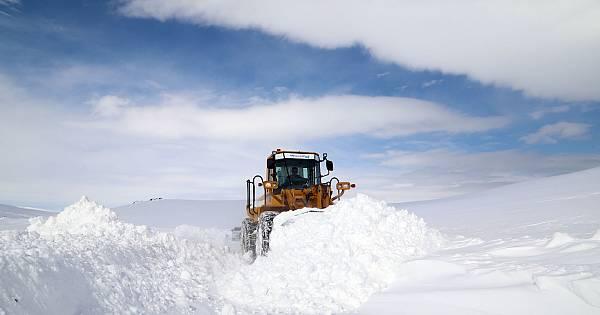 Van karla mücadele ekiplerinin manzaraları