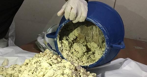 Bidonun içinden çıkan 25 paket halinde toplam 33 Kilo 320 Gram Eroin Maddesisonucu bir kişi tutuklandı
