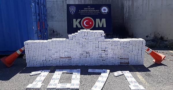 Van'da böyle bir kaçakçılık görülmedi - 13800 paketi bakın nerede yakalandı - Videolu