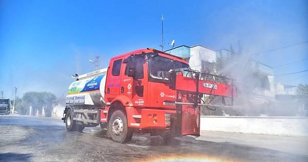 Aydın Büyükşehir Belediyesinden dezanfekte çalışması