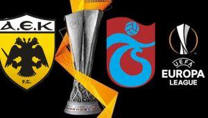 AEK Trabzonspor UEFA maçı canlı yayın saat kaçta, hangi kanalda?