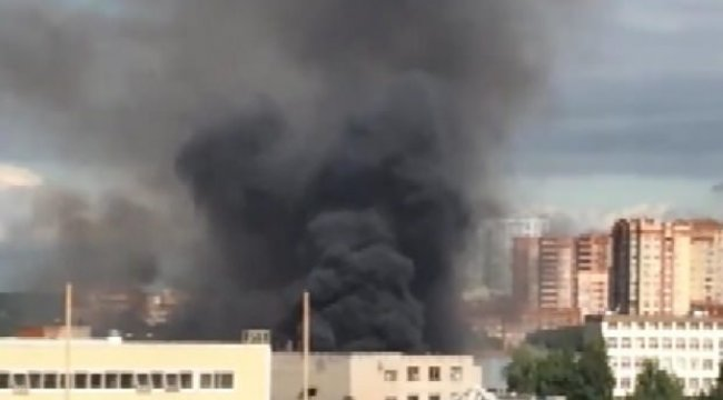 Rusya'da kimyasal tesiste yangın