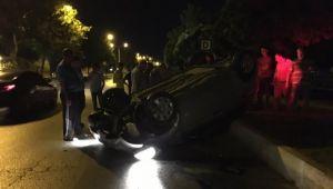 Son Dakika! Otomobil takla attı: 1 yaralı