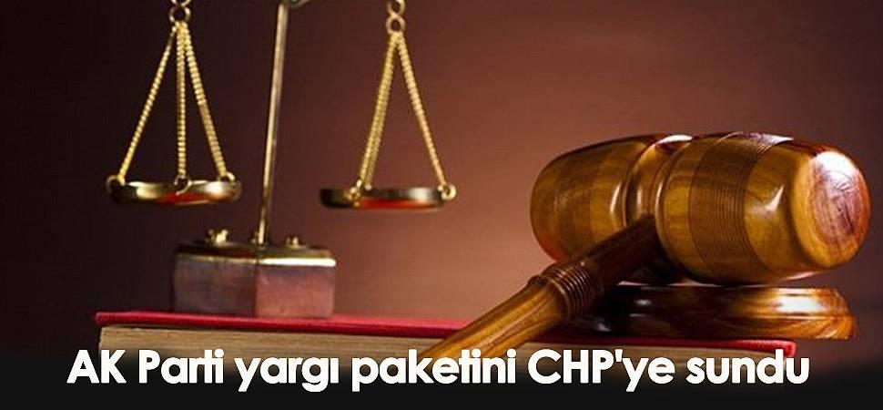 AK Parti yargı paketini CHP'ye sundu