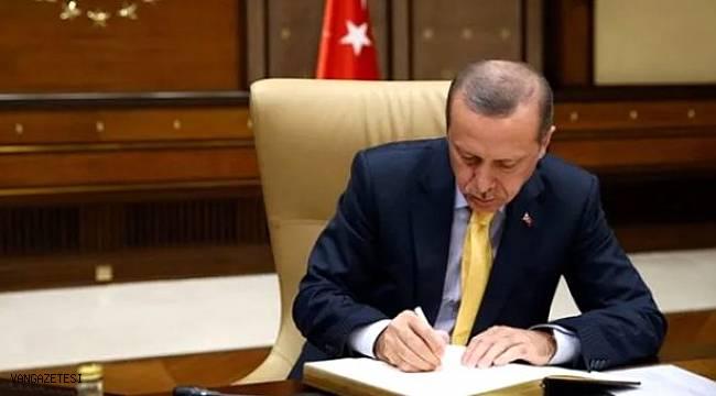 Erdoğan imzaladı, 7 ilde van