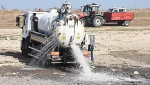 Göleti'ne tankerle 170 ton su bırakıldı