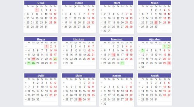 2020 Resmi tatil günleri: Önümüzdeki sene kaç gün tatil yapılacak?
