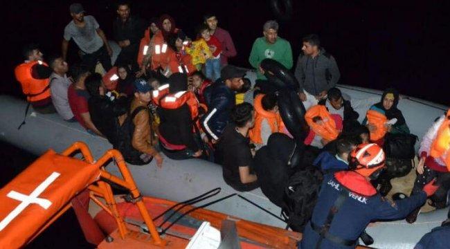 Seferihisar açıklarında 158 kaçak göçmen yakalandı