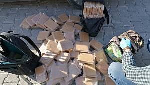 Sırt çantalarından 55 kilo eroin çıktı