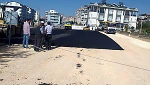 Altınşehir Mahallesinde asfalt çalışması