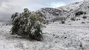 Bayburt ve Erzincan'ın yüksek kesimleri beyaza büründü