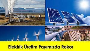 Elektrik Üretim Payımızda Rekor