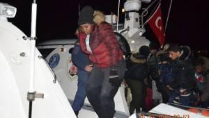 Ayvalık'ta 45 göçmen Sahil Güvenlik ekiplerince yakalandı
