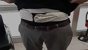 Bel kuşağında 1 kilo 336 gram afyon sakızı ele geçirildi
