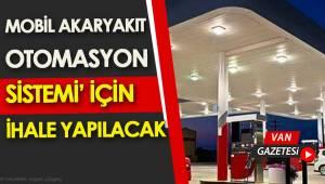 MOBİL AKARYAKIT OTOMASYON SİSTEMİ İHALESİ