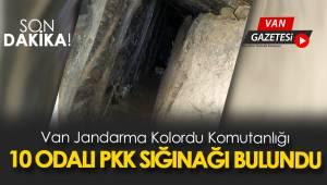 SON DAKİKA! Van Jandarma Kolordu Komutanlığı 10 odalı PKK sığınağı buldu