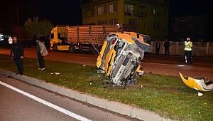 Terme'de trafik kazası: 1 yaralı