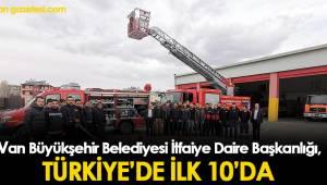 Van Büyükşehir Belediyesi İtfaiye Daire Başkanlığı, Türkiye'de İlk 10' Da
