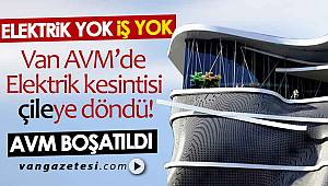 ELEKTRİK YOK , İŞ YOK - Van AVM'de Elektrik kesintisi çileye döndü! AVM boşaldı