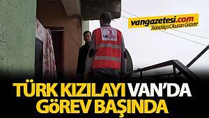 Türk Kızılay'ı Van'da Görev Başında
