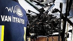 Van Bahçıvan Mahallesinde İş Yeri Yangını