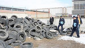 Van'da Eski Araç Lastikleri Ekonomiye Kazandırılıyor