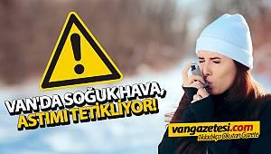 VAN'DA SOĞUK HAVA, ASTIMI TETİKLİYOR!