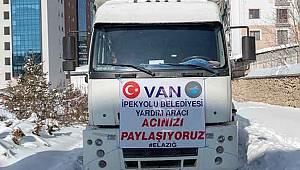 VAN'DAN ELAZIĞ'A YARDIMLAR EKSİLMİYOR