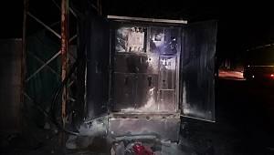 Van'ın Hacıbekir Mahallesinde Bulunan Trafoda Yangın Çıktı