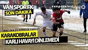 VAN SPOR FK KARLI HAVAYI DİNLEMEDİ VE KAZANDI - İŞTE DETAYLAR