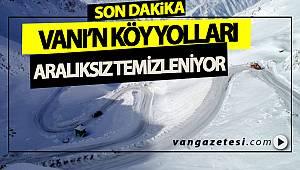 VANI'N KÖY YOLLARI ARALIKSIZ TEMİZLENİYOR