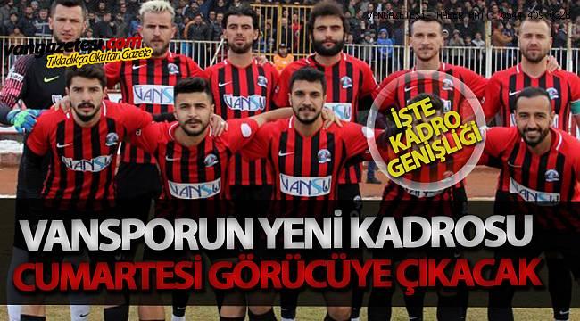Vanspor'un Yeni Kadrosu Cumartesi Görücüye Çıkacak