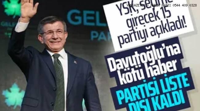 YSK, seçime girecek 15 partiyi açıkladı