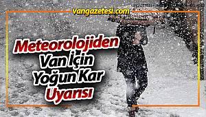 Meteorolojiden Van İçin Yoğun Kar Uyarısı
