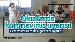 Okullarda koronavirüs uyarısı! Vanhaber van haberleri