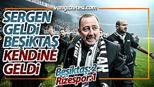 SERGEN GELDİ BEŞİKTAŞ KENDİNE GELDİ - Çaykur Rizespor-Beşiktaş maç sonucu: 1-2