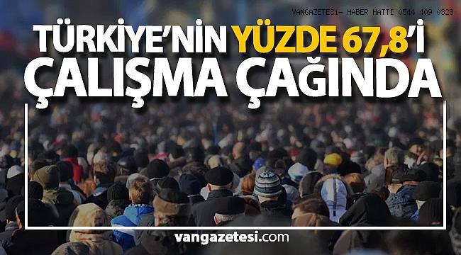 TÜRKİYE'NİN YÜZDE 67,8'İ ÇALIŞMA ÇAĞINDA - Van haberleri