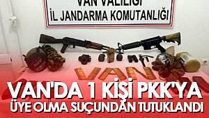 VAN'DA 1 KİŞİ PKK'YA ÜYE OLMA SUÇUNDAN TUTUKLANDI
