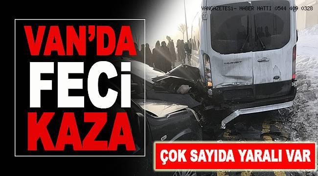 Van'da Trafik Kazası:Yaralılar Var