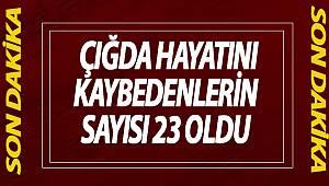 Van Valisi Bilmez, Bahçesaray'daki ikinci çığda 23 kişinin hayatını kaybettiğini açıkladı