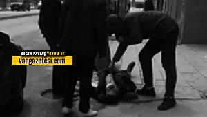 Son dakika! Van'da bir kişi yere yığıldı ve kameralara böyle yansıdı
