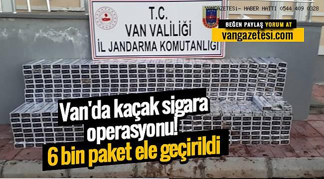 Van'da kaçak sigara operasyonu , 6 bin paket ele geçirildi