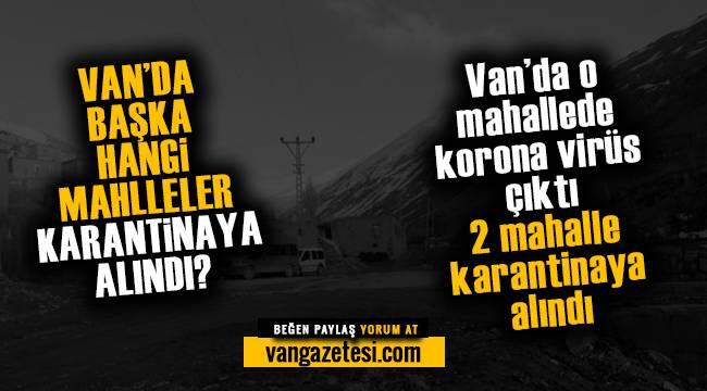 Van'da başka hangi mahallerde korona virüsü var? - Van gazetesi