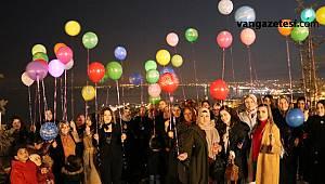 Van haber - Son dakika! Van'da öldürülen 474 kadın anısına ışıklı balonlar uçuruldu