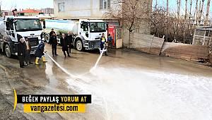Vanhaber -Van Tuşba bölgesi sabunlu su ile yıkanıyor
