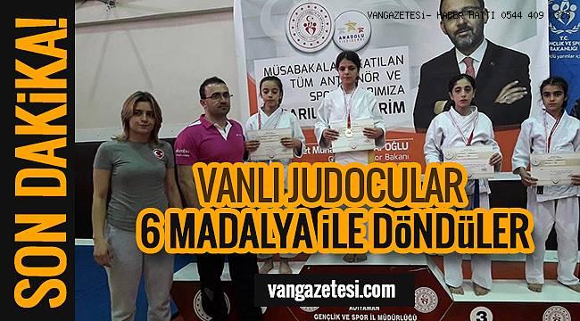 Vanhaber - VANLI JUDOCULAR 6 MADALYA İLE DÖNDÜLER