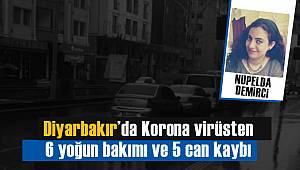Diyarbakır'da Korona virüsten 6 yoğun bakımı ve 5 can kaybı