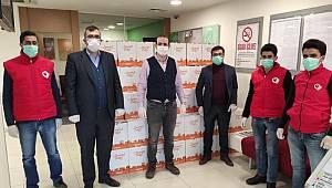 Van Deniz Bank Çaldıran Şubesi 100 adet gıda desteği