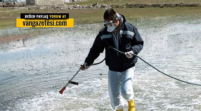 Van su kanalları dezenfekte çalışmaları başladı