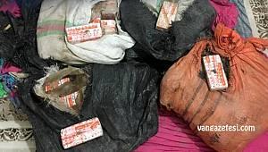 Van - Yatak odasında çuval çuval eroin bulundu
